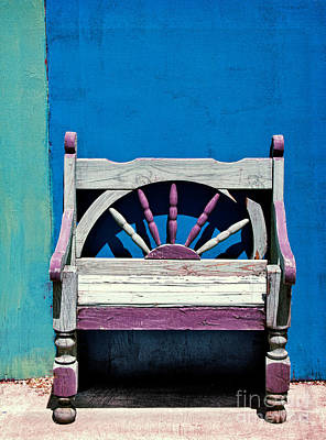 Empty Chairs Photograph - Santa Fe Chair by Elena Nosyreva