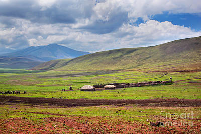 Scenery Photograph - Savannah Landscape In Tanzania by Michal Bednarek