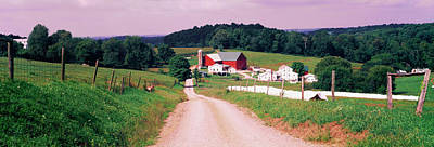 Amish Photograph - Scenic View Of A Farm, Amish Country by Panoramic Images
