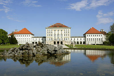 Muenchen Photograph - Schloss Nymphenburg In Muenchen, Castle by Tips Images