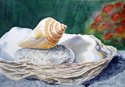By Irina Painting - Sea Shells by Irina Sztukowski