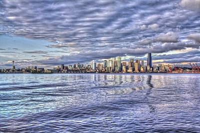 Piers Photograph - Seattle Skyline Cityscape by SC Heffner
