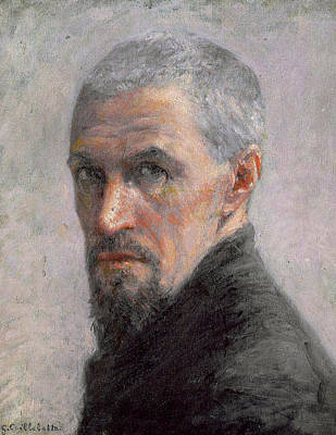 Aging Painting - Self Portrait by Gustave Caillebotte
