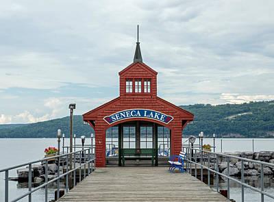 Lake Photograph - Seneca Lake Harbor House by Photographic Arts And Design Studio