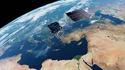 Wildfire Photograph - Sentinel-3 Satellite In Orbit by Atg Medialab/esa