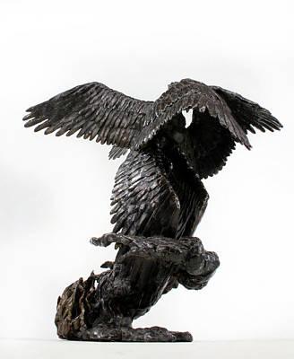 Seraphim Angel Sculpture - Seraph Angel A Religious Bronze Sculpture By Adam Long by Adam Long