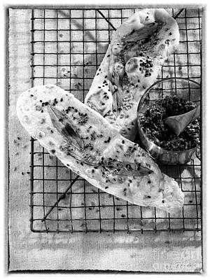 Sesameseed And Sage Flatbread Print by Iris Richardson