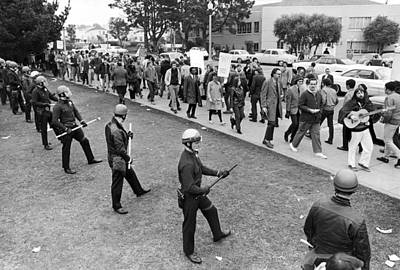 Sf State Riots Scene Print by Underwood Archives