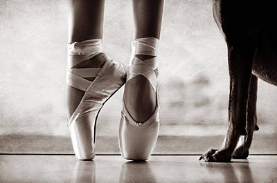 Toe Photograph - Shall We Dance by Laura Fasulo