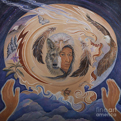 Unity Painting - Shaman Sight-eternal New Beginnings by Jeanette Sacco-Belli