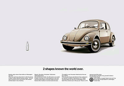Beetle Photograph - 2 Shapes Known The World Over by Mark Rogan