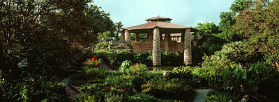 Tea Garden Photograph - Shelter In Japanese Tea Garden, San by Panoramic Images