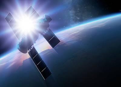 Shenzhou 5 In Orbit Print by Detlev Van Ravenswaay