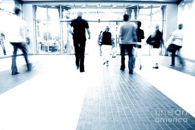 Blur Photograph - Shopping Abstact by Michal Bednarek