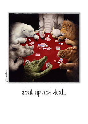 Crocodile Painting - Shut Up And Deal... by Will Bullas