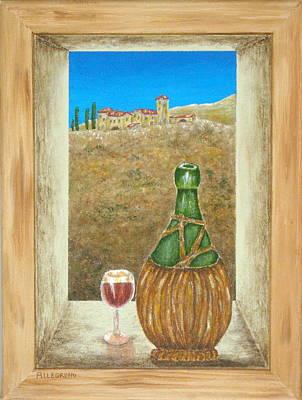 Sicilian View Print by Pamela Allegretto
