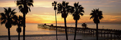 Silhouette Of A Pier, San Clemente Print by Panoramic Images