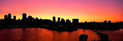 Montreal Cityscapes Photograph - Silhouette Of Buildings At Dusk by Panoramic Images