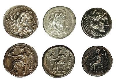 Silver Tetradrachm Coins Print by Photostock-israel