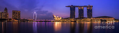 Singapore City Print by Anek Suwannaphoom