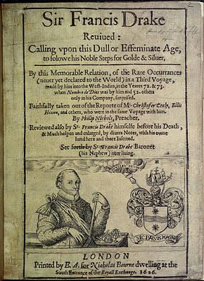 Drake Photograph - Sir Francis Drake by British Library