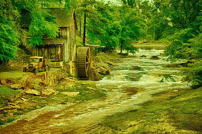 Indian Cherokee Digital Art - Sixes Mill by Priscilla Burgers