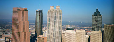 Rooftop Photograph - Skyscrapers In A City, Atlanta by Panoramic Images