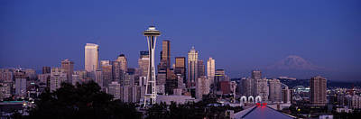 Seattle Skyline Photograph - Skyscrapers In A City, Seattle by Panoramic Images