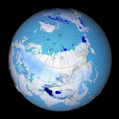 Snow Darkening Print by Nasa's Scientific Visualization Studio
