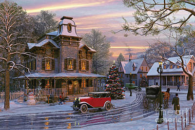 Snow Digital Art - Snow Streets by Dominic Davison