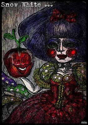 Snow White Print by Akiko Kobayashi