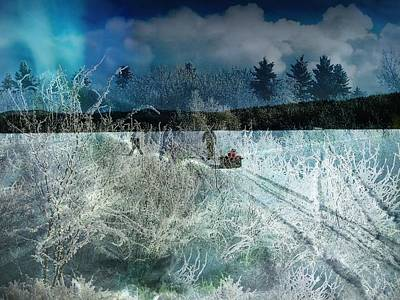 Design With Photograph - Snowstorm by Shirley Sirois