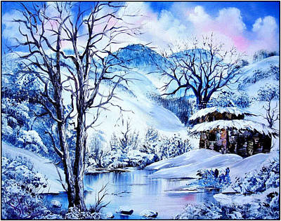 Bob Ross Painting - Snowy Day by Shirwan Ahmed