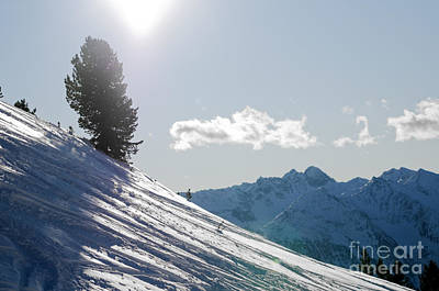 Ski Photograph - Snowy Winter Mountains by Michal Bednarek