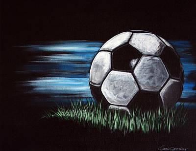 Sports Art For Children Painting - Soccer Ball by Dani Abbott