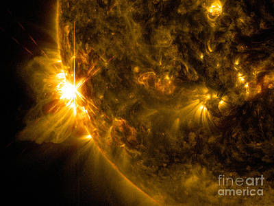 Heavenly Body Photograph - Solar Flare by Science Source