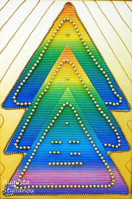 Pyramid Mixed Media - Spectrum Trees by Augusta Stylianou