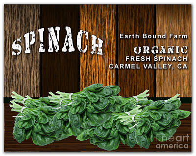 Spinach Patch Print by Marvin Blaine