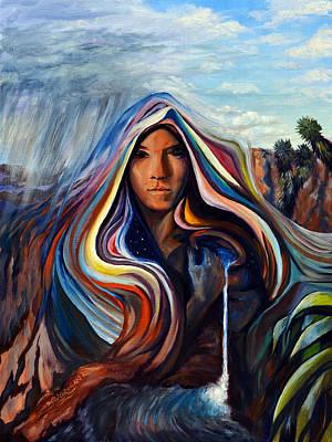 Desert Painting - Spirit Of Desert Water by SJW Grogan