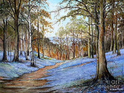 Woodlands Scene Painting - Spring In Wentwood by Andrew Read