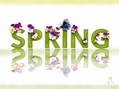 Digital Painting - Spring by Veronica Minozzi