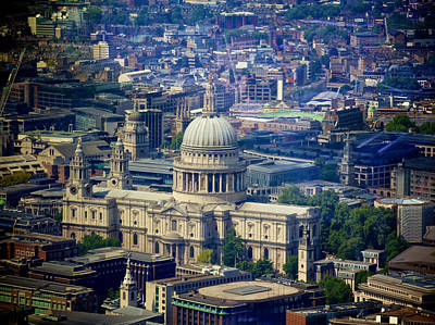 Arial View Photograph - St Pauls by Sean Foreman