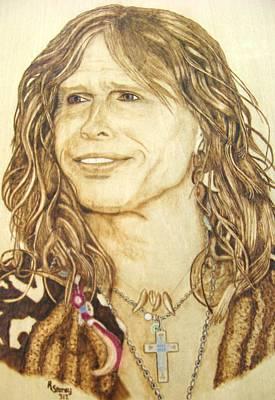 Aerosmith Mixed Media - Steven Tyler by Roger Storey