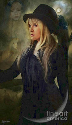 Flame Light Digital Art - Stevie Nicks by Craiger Martin
