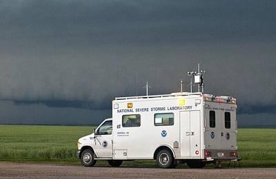 Storm Chasing, Nebraska, Usa Print by Science Photo Library