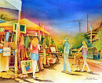Street Art Fair Print by Hailey E Herrera