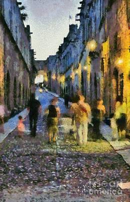 Street Of Knights Print by George Atsametakis