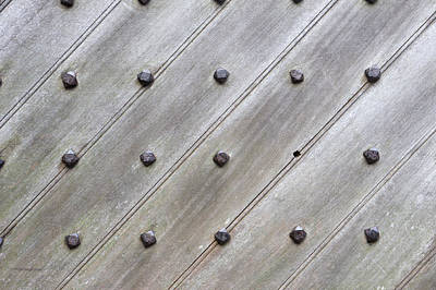 Studded Wooden Surface Print by Tom Gowanlock