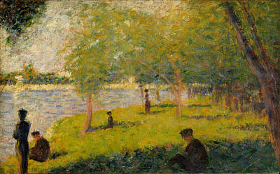 Study For A Sunday On La Grande Jatte Print by Georges Seurat