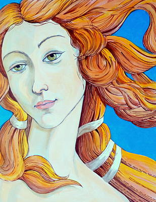 Botticelli Mixed Media - Study Of Venus by Darrell Sheppard